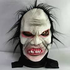 angry zombie demon full head mask scary halloween prank prop for
