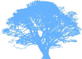 blue tree 23 clip at clker vector clip