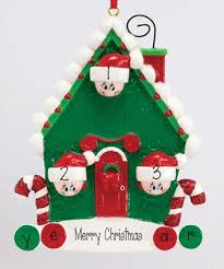 family of 3 my personalized ornaments
