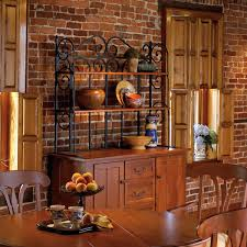 cool kitchen bakers racks come with rectangle shape brown wooden