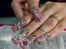 imagenes de uñas acrilicas con pedreria uñas acrilicas