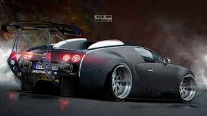 bugatti bugatti veyron gets stanced luckily it u0027s a rendering autoevolution