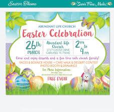 easter egg sale easter egg hunt flyer invitation poster template church school