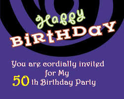 50th birthday invitation post card from 365greetings com