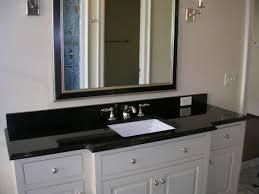 Undermount Rectangular Vanity Sinks Beauty Black Granite Bathroom Vanity Tops With Rectangular