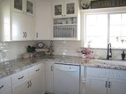 White Kitchen Brick Tiles - plain fresh white ceramic subway tile backsplash kitchen pure
