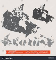 Canada Province Map Vector Detailed Map Canada Provinces Stock Vector 193839149