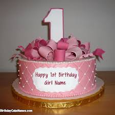 write name on beautiful happy birthday cake with name