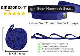 1 strongest hammock tree straps set by bear start up company