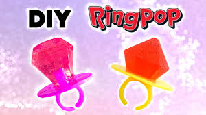 diy ring pop and edible jewels lollipops
