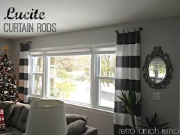 Curtain Rods Either Side Window Lucite Curtain Rods The Curtain Rods As Well As The
