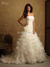 charming stunning mermaid strapless sleeveless chapel train white