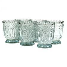 3 vintage glass candle holder 6 pack 424471 wholesale wedding
