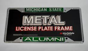 michigan state alumni license plate frame state alumni license plate frame