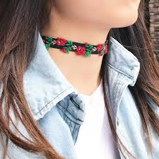 flower collar necklace images Flower choker necklace set imsmistyle jpg