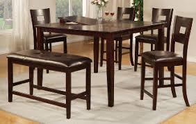 Dining High Chairs 6pcs Counter Height Dining W Bench F2335 No Credit Needed Apply