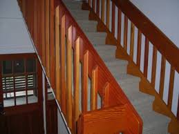 Banister Railing Parts Railings Stairs Iron Balusters Stair Wood Rod Indoor Stair Railing