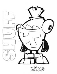 mixels coloring pages redcabworcester redcabworcester