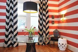 Orange Striped Curtains Black And White Striped Curtains As Real Elegant U0026 Minimalist