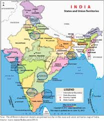 World Map Of India by State And Union Territories Map Of India Note The Different