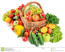 fruit and vegetable baskets fruit and vegetable in basket stock photos image 37224813