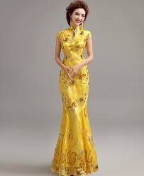yellow dress yellow mermaid evening dress with floral appliques