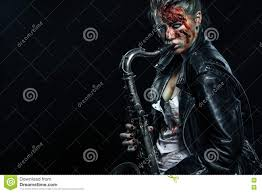 halloween horror background music download horror dead musician scary zombie playing on saxophone in