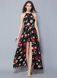 maxi dress sleeveless floral printed high slit bohemian maxi dress oasap