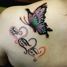Butterfly Tattoos - 27 pleasant butterfly shoulder tattoos and designs