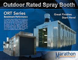 truck u0026 equipment spray paint booth outdoor rated marathon