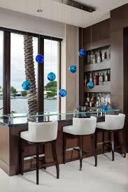 contemporary bar stools home bar contemporary with dark wood