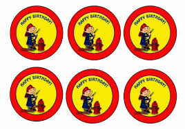 firefighter cupcake toppers firefighters birthday printable