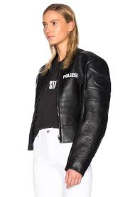 leather racing jacket vetements racing jacket in black lyst