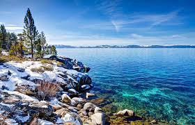 Nevada Scenery images Photos nevada usa lake tahoe nature winter sky scenery coast trees jpg