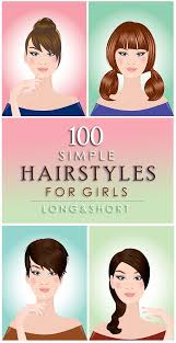 100 inspiring easy hairstyles for girls to look cute