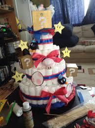 super mario diaper cake diy ideas pinterest mario diapers