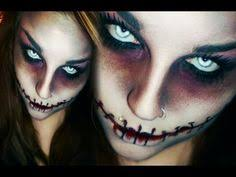 easy diy halloween costumes creepy doll makeup tutorial youtube pencil through the nose spfx makeup tutorial creepy but awesome