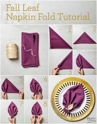 fall leaf napkin fold napkin folding fall leaves