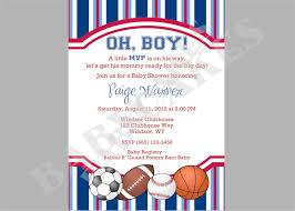 baby shower invitations astounding sports baby shower invitations