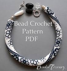 crochet necklace with beads images Winter lace bead crochet pattern beaded flowers necklace seed bead jpg
