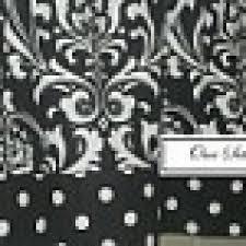 Black Polka Dot Curtains Black And White Polka Dot Valance Foter