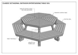 octagonal house plans octagon outdoor timber table u0026 chair unique design v1 full