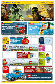 lego volkswagen mini here u0027s a look at the lego store august calendar with the exclusive