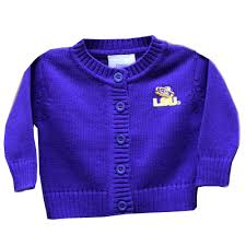 lsu tigers infant and toddler cardigan sweater purple purple