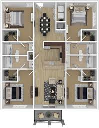 four bedroom luxury four bedroom ccu conway student housing to cus
