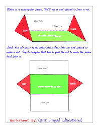 Surface Area And Volume Worksheets Grade 7 Triangular Prism Net Examples Learn How To Draw The Net For A