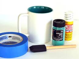 glitter coffee mug made two different ways rachel teodoro