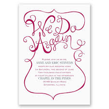 wedding vow renewal ceremony program we do again vow renewal invitation invitations by
