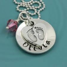 sted name necklace shop baby footprint necklace on wanelo
