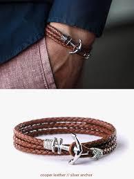 anchor leather bracelet man images Anchor bracelet mens bracelet leather bracelet bracelet etsy jpg